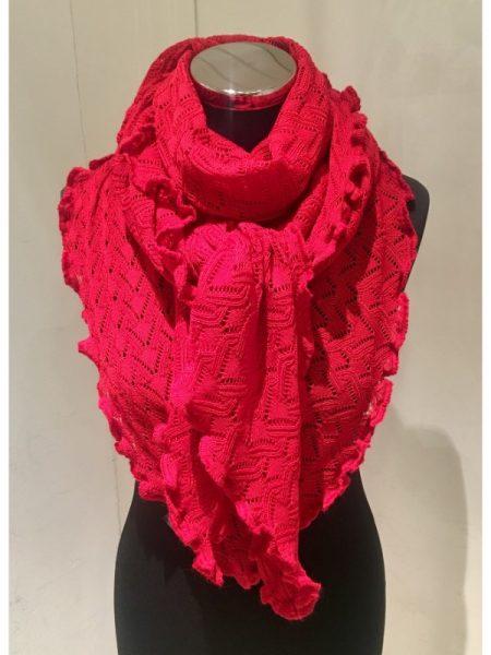 Tynde strikkede tørklæder i ensfarvet merino uld
