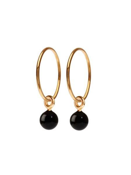 Scherning Glow øreringe i farven gold og black
