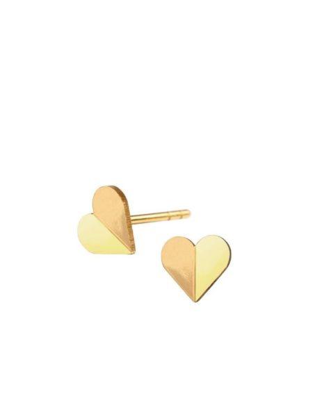Heart ørestikker fra Scherning i farven Limone og Gold