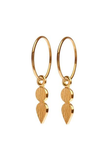 Point øreringe fra Scherning i guld