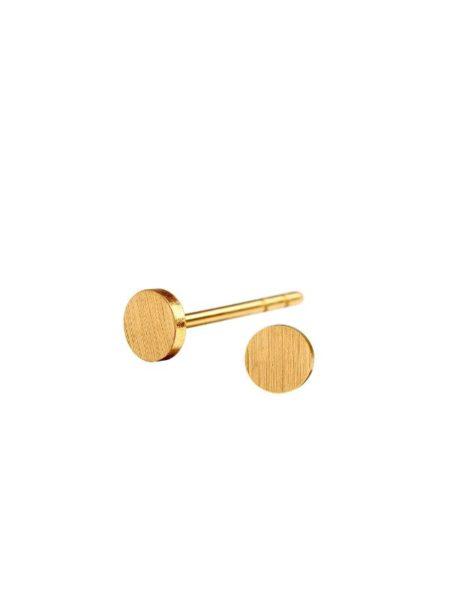 Spot ørestikkere fra Scherning i guld i lille størrelse