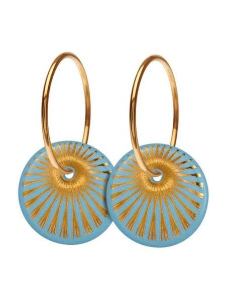 Splash Øreringe fra Scherning i farven sky og gold