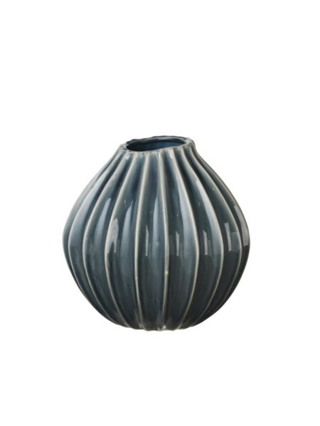 WIDE vase i str M i farven blue mirage