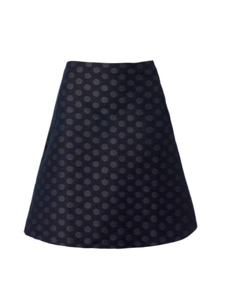 blå/grå denim nederdel i A facon fra du Milde
