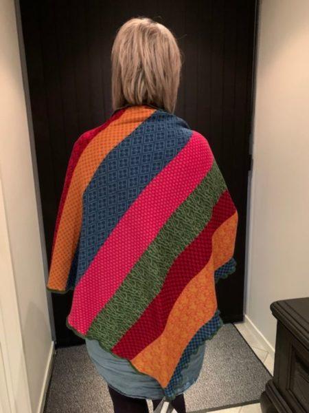 tykt merino uld sjal i multi farver