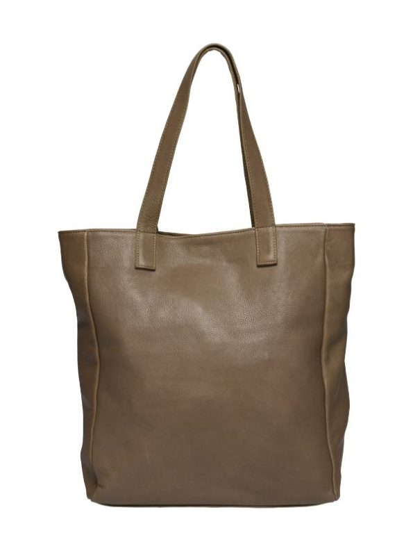 Stor lædertaske fra Tim & Simonsen til arbejdsbrug og shopping