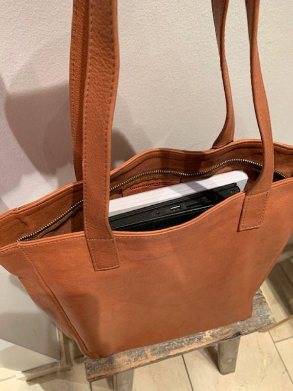 Tim & Simonsen taske Pernille shopper cognac leather