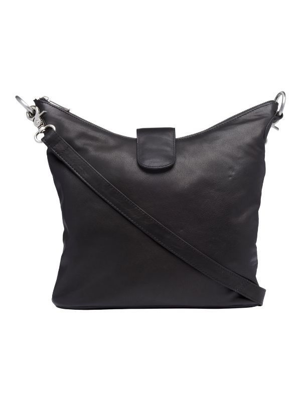 Tim & Simonsen taske Sara cross over bag black leather