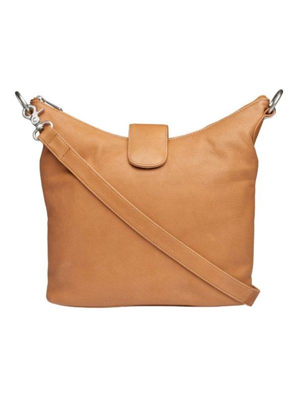 Cognac farvet lædertaske fra Tim og Simonsen
