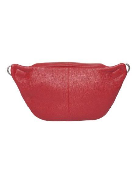 bumbag i rødt skind