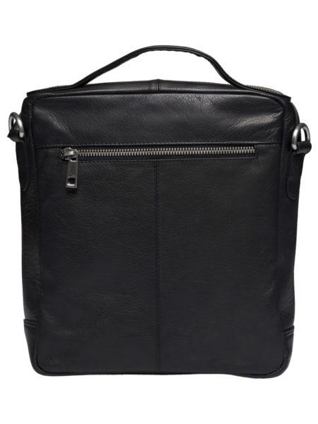 stor rummelig sort skintaske