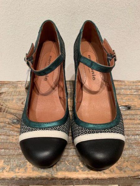 sort/petrol sko i kalveskind