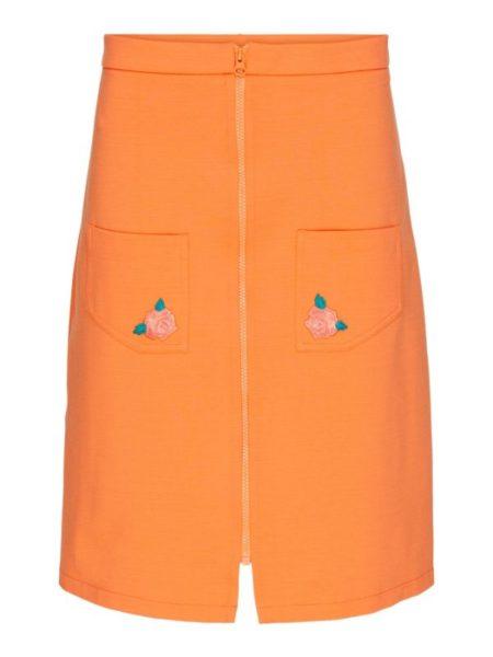Orange tætsiddende nederdel fra Margot