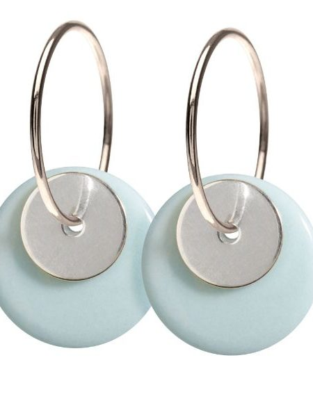 Dobbelte øreringe i sterling sølv