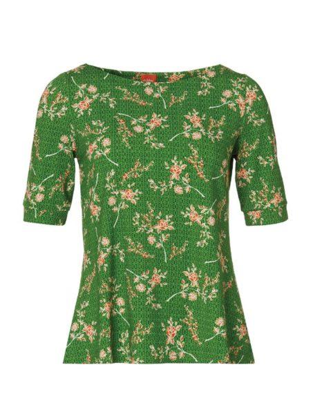 Flot grøn kortærmet bluse fra du Milde