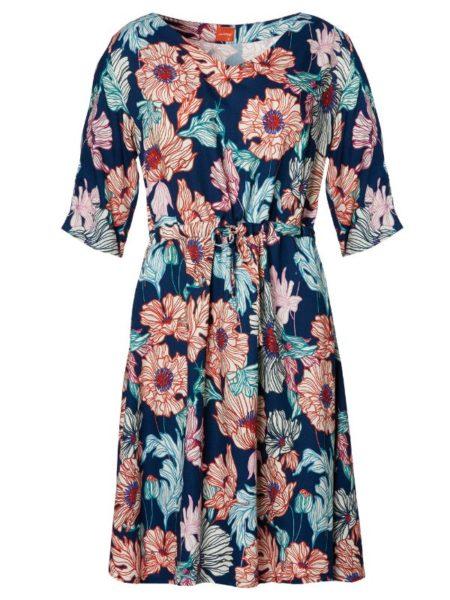 Let sommerkjole med bindebånd fra du Milde