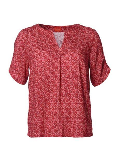 rødmønstret bluse fra du Milde