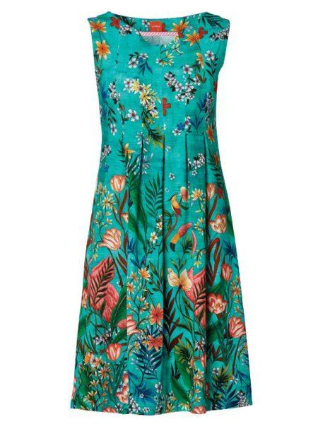 sommer spraglet kjole fra du Milde uden ærmer