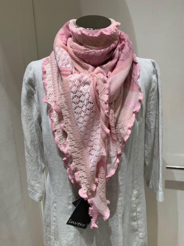 Rosa farvet kyra tørklæde