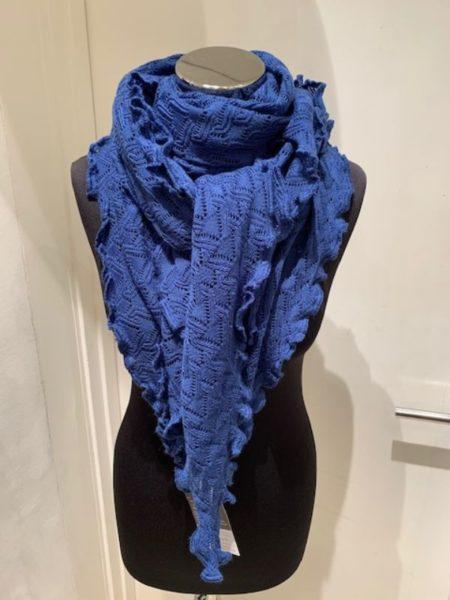 Flot koboltblåt strikket tørklæde