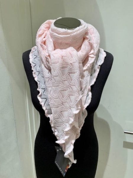 Sart rosa tørklæde i strik