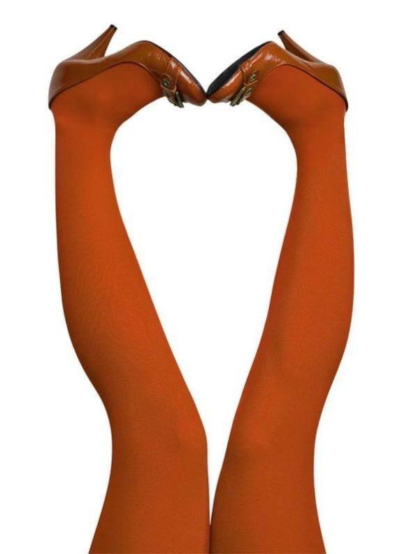 Strømpebukser i brændt orange