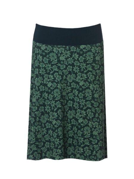 Grøn hallang nederdel med grønt print