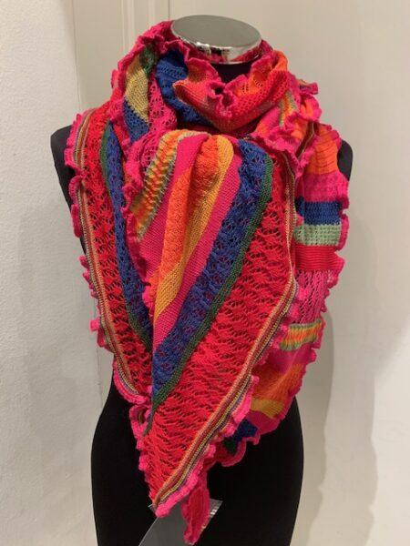 Tyndt merino uld tørklæde i smukke farver