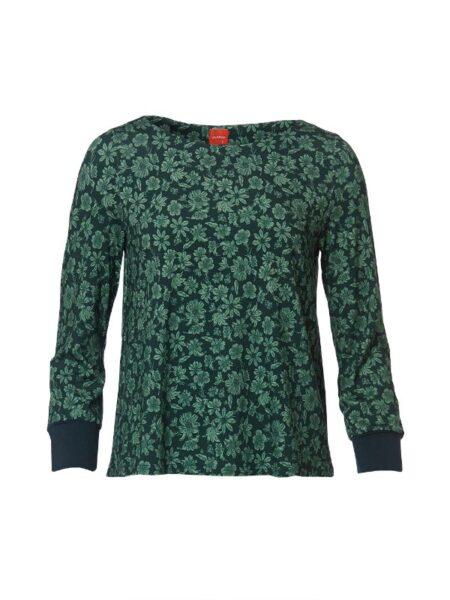 Flot grøn printet bluse