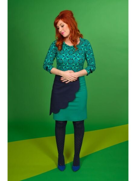 Flot bluse med grønt print fra Margot