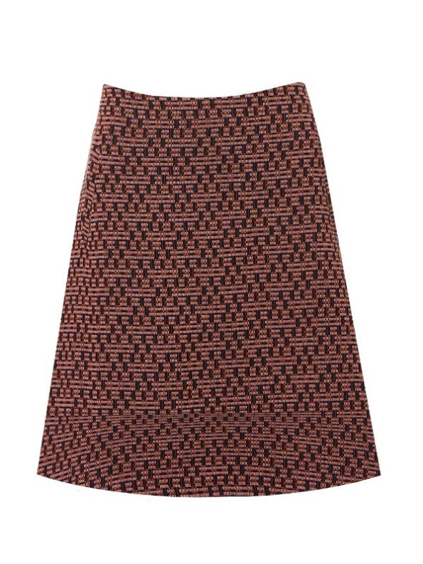 Tykt vævet nederdel i A facon