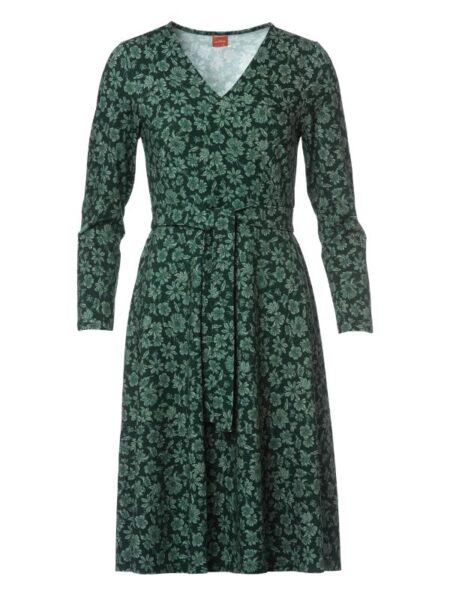 Flot grøn du milde kjole med swing i skørtet