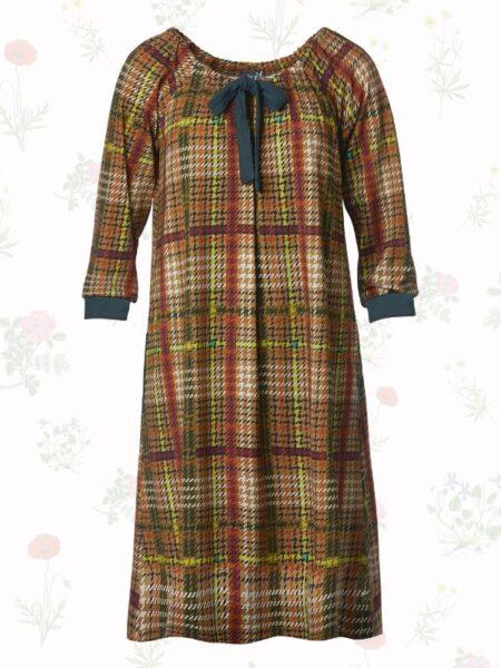 skotskternet kjole med vidde