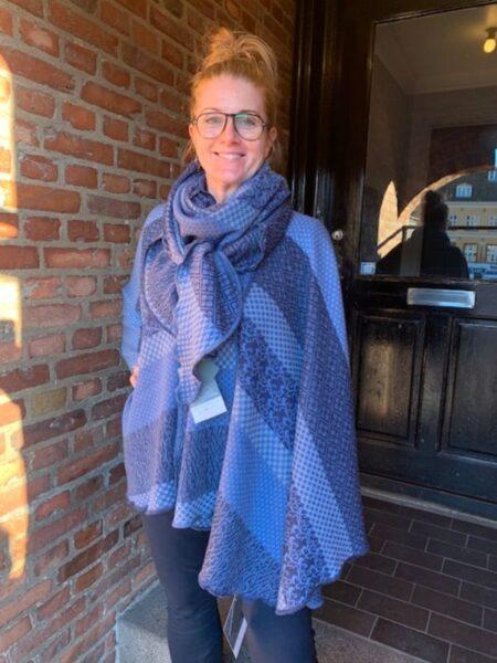 Kappe og tørklæde i merino uld