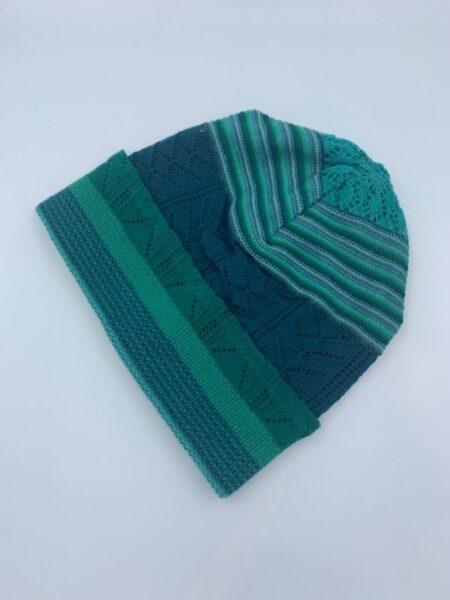 Hue i merino uld i aqua grønne farver