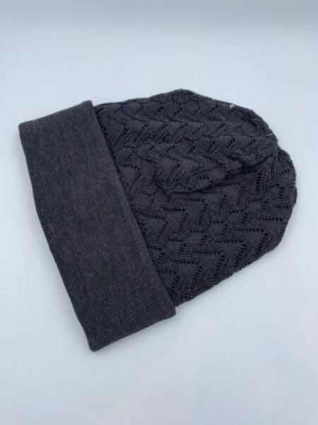 Mørkegrå hue i merino uld