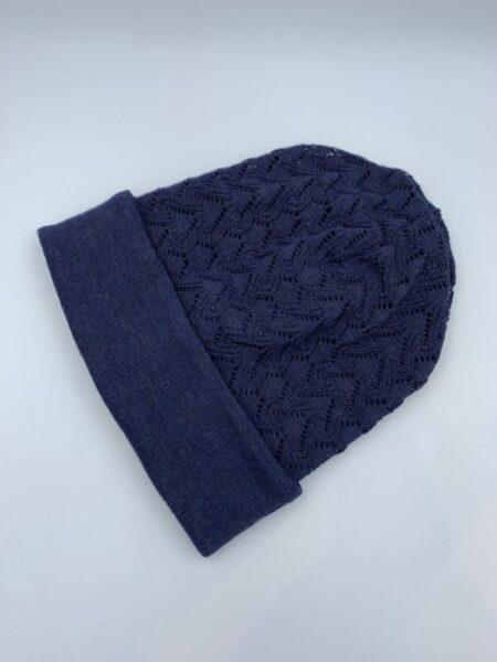 Blå hue i merino uld