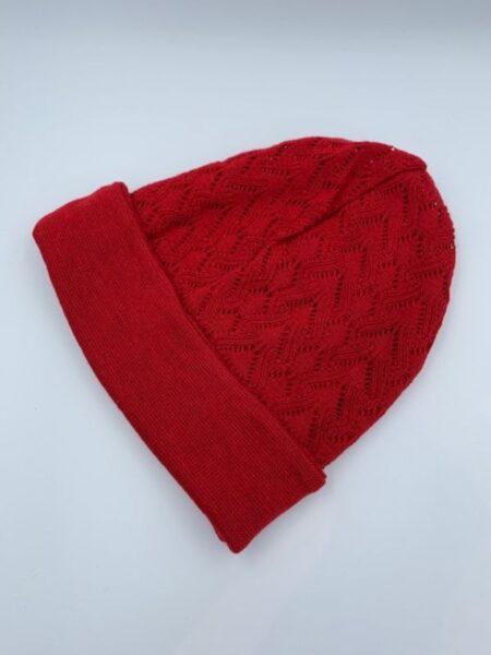 Rød hue i merino uld