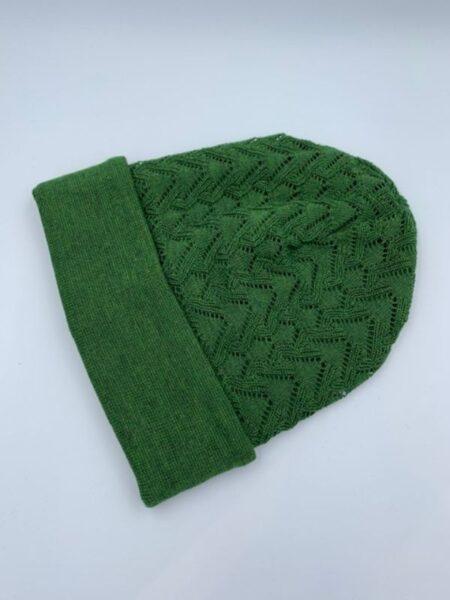 Klar grøn hue i merino uld