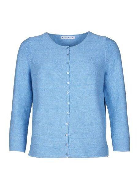 Lys blå/denim strikbluse/cardigan