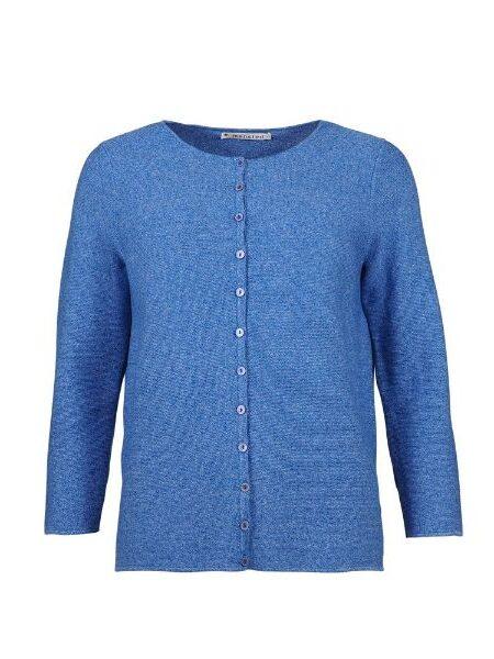Klar blå strikbluse/cardigan