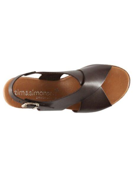 Skind sandal med memoryskum