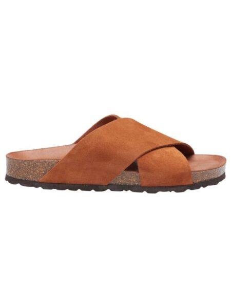 flad sandal med memoryskum