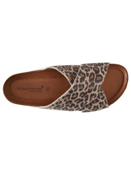 flad sandal i ruskind