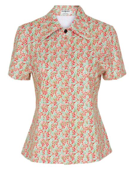 småblomstret skjorte