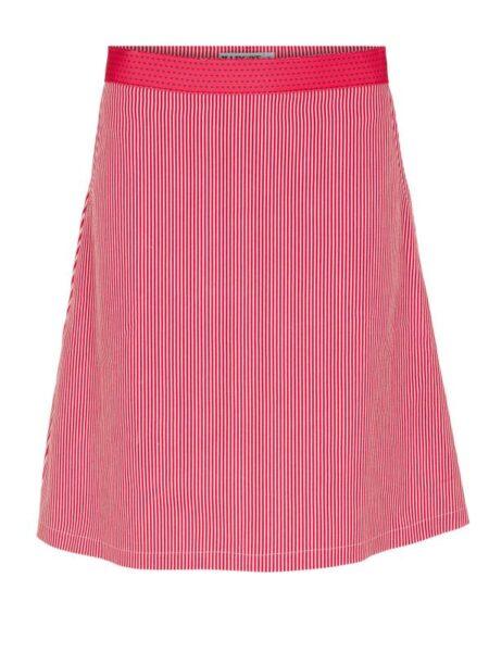 rød stribet nederdel