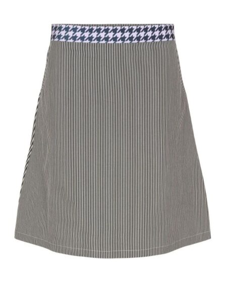sort stribet nederdel