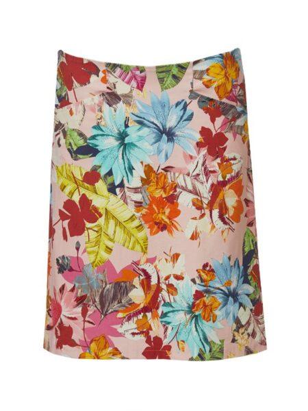 let a formet nederdel i blomsterprint