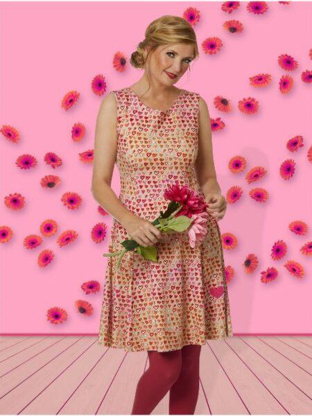 lækker sommerkjole i pink uden ærmer