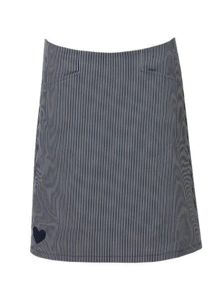 blå stribet nederdel fra du milde